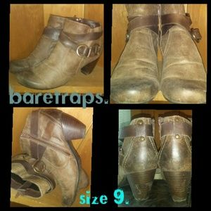 🐻 Baretraps booties 9 leather boots shoes 🐻